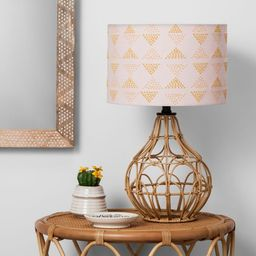 Rattan Table Lamp Pink Shade - Opalhouse™ | Target