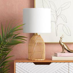 Rattan Diagonal Weave Table Lamp Tan - Opalhouse™ | Target
