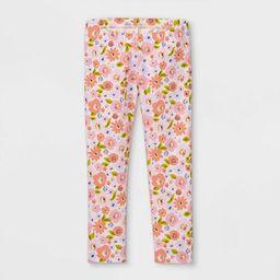 Toddler Girls' Floral Leggings - Cat & Jack™ Pink | Target