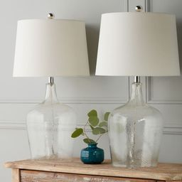 Azure Clear Glass 27.5-inch Table Lamp (Set of 2) By Abbyson | Overstock