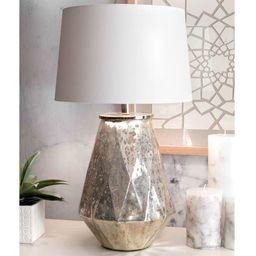 nuLOOM 27-inch Katherine Mercury Glass Iron Cotton Shade Table Lamp | Overstock