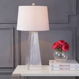 """Dylan 28.5"""" Glass LED Table Lamp, Clear by JONATHAN Y 