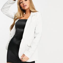 Unique21 classic single breasted blazer in white | ASOS (Global)