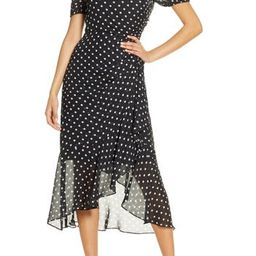 Julia Jordan | Dot Print Chiffon Dress | Nordstrom Rack | Nordstrom Rack
