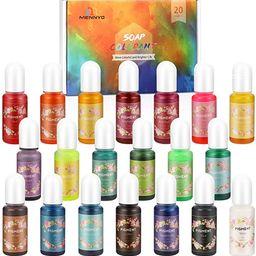 Epoxy Resin Pigment, MENNYO Epoxy Resin Soap Dye Colourant 20 Colors (10ml, Total 200ml), Natural...   Amazon (UK)