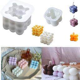 3D Rubik Cube Soy Silicone Candle Soap Making Moulds Cake Decorating Silicone Fondant Mould Bakew...   Amazon (UK)