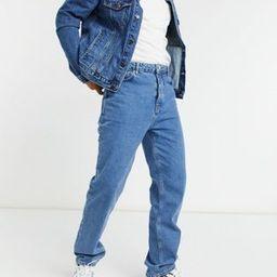 ASOS DESIGN dad jeans in mid wash blue | ASOS (Global)