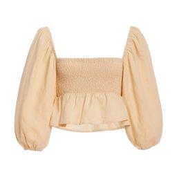 Vivica Smocked Linen Crop Top | Moda Operandi (Global)