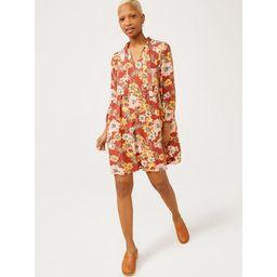 Free Assembly Women's Long Sleeve Swing Dress with Tie Neck   Walmart (US)