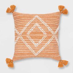 Embroidered Textured Diamond Throw Pillow - Opalhouse™ | Target