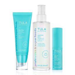 no-makeup skincare essentials kit   Tula Skincare