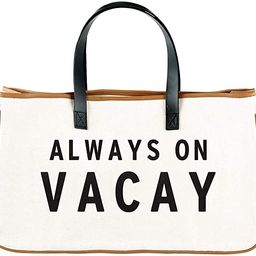 """Creative Brands Hold Everything Tote Bag, 20"""" x 11"""", Always On Vacay 
