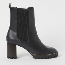 H & M - Block-heeled Ankle Boots - Black | H&M (US)