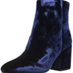 Sam Edelman Women's Taye Ankle Boot, Inky Navy Velvet, 9 Medium US | Amazon (US)