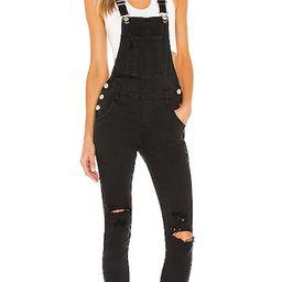 superdown Gia Denim Overalls in Black. - size L (also in XXS) | Revolve Clothing (Global)