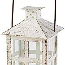 Kate Aspen Vintage White Distressed Medium candle lantern, One Size | Amazon (US)