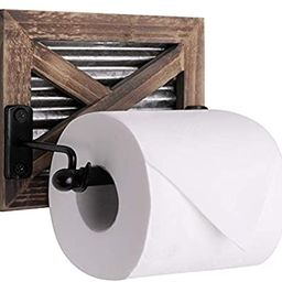Autumn Alley Rustic Farmhouse Barn Door Toilet Paper Holder | Constructed of Warm Brown Wood, Cor... | Amazon (US)