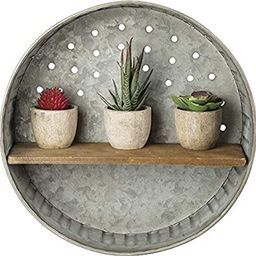 Primitives by Kathy 38024 Rustic-Inspired Wall Shelf, Metal and Wood | Amazon (US)