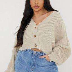 Plus Size Stone Distressed Knit Cardigan | Missguided (US & CA)