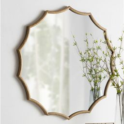 Postma Scalloped Modern & Contemporary Beveled Accent Mirror   Wayfair North America