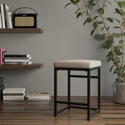 """HomePop Open Back Metal 24"""" Counter Stool - 24 inches - 24 inches - Tan   Overstock"""