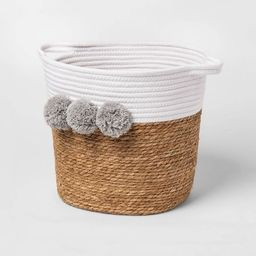Decorative Basket - Cloud Island™ Large Coiled Rush Pom White | Target
