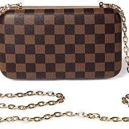 Daisy Rose Checkered Minaudiere Evening Bag - RFID Blocking Cross body Clutch -PU Vegan Leather (... | Walmart (US)