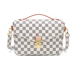 RICHPORTS Checkered Tote Shoulder Handbags Bag with inner pouch PU Vegan Leather | Walmart (US)