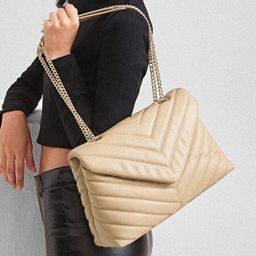 SHEIN BASICS Chevron Graphic Flap Shoulder Bag   SHEIN