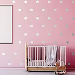 200 Pieces Wall Decal Dots Posh Dots Easy to Peel and Stick Removable Metallic Vinyl Polka Dot De...   Amazon (US)