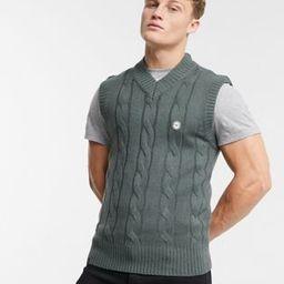 Le Breve rib knitted vest in grey | ASOS (Global)
