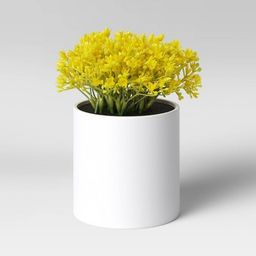 "6"" x 6"" Artificial Mimosa Arrangement in Pot Yellow - Threshold™ | Target"
