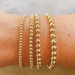 14kt Gold Filled Stacking Bracelets, gold stretch bracelets, dainty jewelry | Etsy (US)