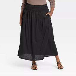 Women's Plus Size Crinkle Maxi Skirt - Ava & Viv™   Target