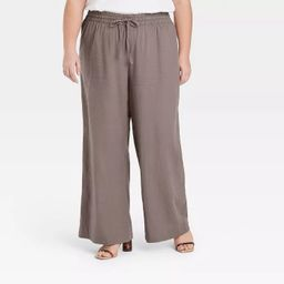 Women's Mid-Rise Wide Leg Pants - A New Day™   Target
