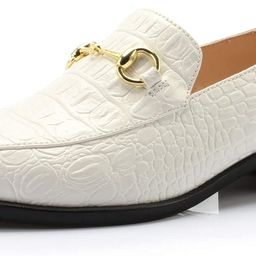 Women's Brandon Chain Decorated Penny Loafers Low Heels Almond Toe Casual Daily Shoe | Amazon (US)