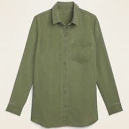 Pigment-Dyed Tencel® Long-Sleeve Shirt for Women | Old Navy (US)