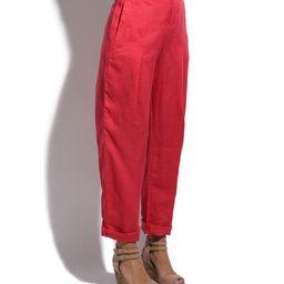 Bella Blue Women's Casual Pants raspberry - Raspberry Pink Linen Straight-Leg Pants - Women   Zulily