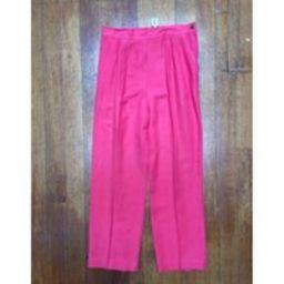 Vintage Women's 90's Linen Ankle Length Pants - Lg   Etsy (US)