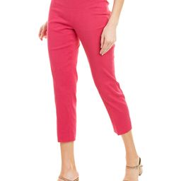 Theory Basic Linen-Blend Pull-On Pant   Gilt