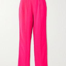 USISI SISTER - Flora Pleated Woven Straight-leg Pants - Fuchsia   Net-a-Porter (US)