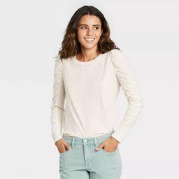Women's Long Sleeve Ruched T-Shirt - Universal Thread™ | Target