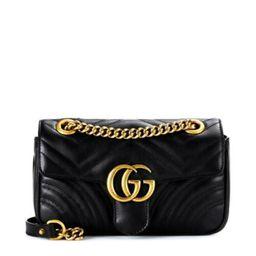 Gucci Gg Crossbody Marmont Calfskin Matelasse Small Black Leather Shoulder Bag  | eBay | eBay US