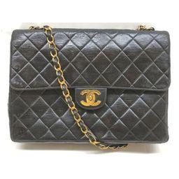 Chanel Shoulder Bag  Black Leather 1904672  | eBay | eBay US