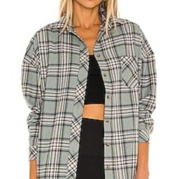 Lovers + Friends Gela Oversized Top in Sage Plaid from Revolve.com   Revolve Clothing (Global)