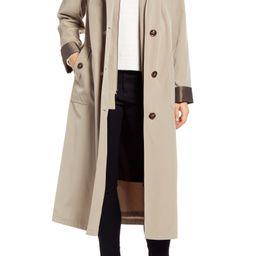 Full Length Two-Tone Silk Look Raincoat | Nordstrom