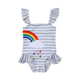 Baby Kid Girl Rainbow Swimsuit Bikini Swimming Costume Swimwear Bathing Suit | Walmart (US)