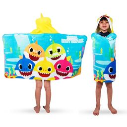 Baby Shark Kids Bath and Beach Hooded Towel Wrap, 100% Cotton | Walmart (US)