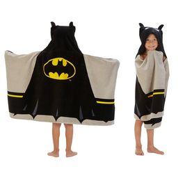 Batman Kids Bath and Beach Hooded Towel Wrap, 100% Cotton | Walmart (US)