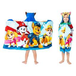 PAW Patrol Kids Bath and Beach Hooded Towel Wrap, 100% Cotton | Walmart (US)